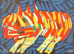 Karel APPEL - Estampe-Multiple - Clown Cat