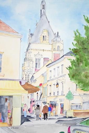 Joël FOUGMAN - Drawing-Watercolor - Brffroi de Dreux