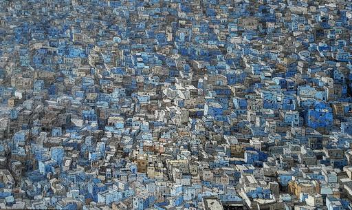 Olivier LAVOREL - Pittura - 1715 - Grande Ville Bleue