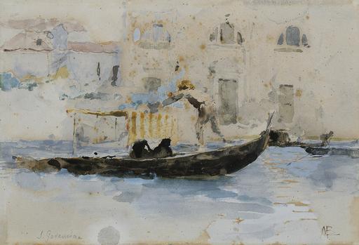 Mosè di Giosuè BIANCHI - Pintura - gondoliere a San Geremia