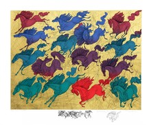 Guillaume A. AZOULAY - Print-Multiple - Quinze Chevaux