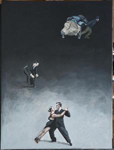 Catherine LOPES-CURVAL - Painting - Le cartonero