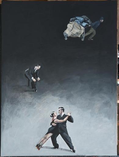 Catherine LOPES-CURVAL - Pittura - Le cartonero