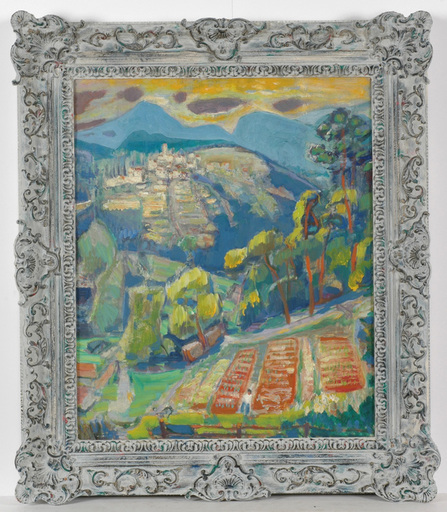 """Frederick SERGER - Painting - Frederick Serger (1889-1965) """"In Provence"""" oil painting"""