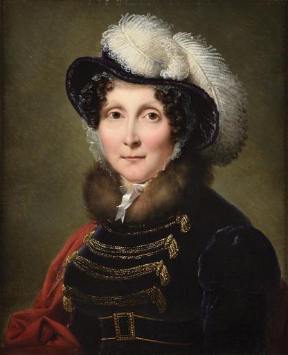 François-Joseph KINSON - 绘画 - Femme en robe d'intérieur