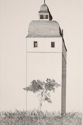 David HOCKNEY - Grabado - The Bell Tower, from: Six Fairy Tales from Brothers Grimm