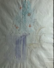 "Joaquín PEINADO - Dessin-Aquarelle - ""Interior de la vela"""