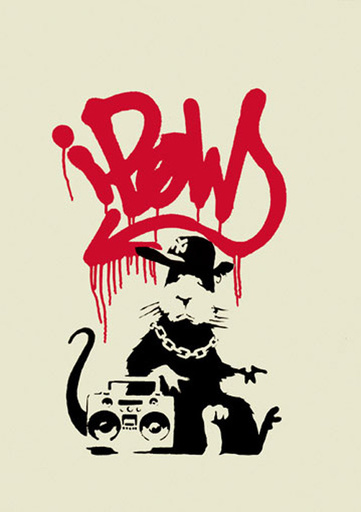 BANKSY - Print-Multiple - Gangsta Rat (unsigned- PC Certified)