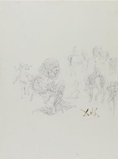 Salvador DALI - Drawing-Watercolor - The Vision