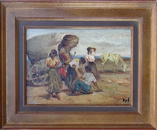 Marcel DYF - Gemälde - Tsiganes - Gitans -  Gypsy
