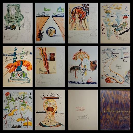 Salvador DALI - Grabado - Imaginations & Objects of Future Complete Suite