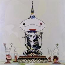 "Takashi MURAKAMI - Estampe-Multiple - ""Reversed double helix..."""