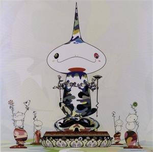 """Takashi MURAKAMI - Grabado - """"Reversed double helix..."""""""