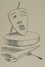 曼•雷 - 版画 - Untitled from 'Les six masques voyant' portfolio