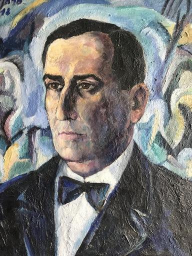 Eduardo PISANO - Gemälde - Portrait d'homme - Retrato o  bien autorretrato?