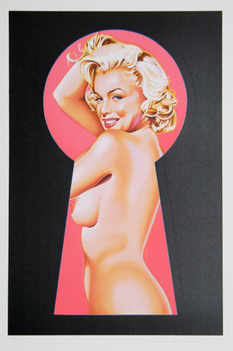 Mel RAMOS - Grabado - Peek a Boo Marilyn 1