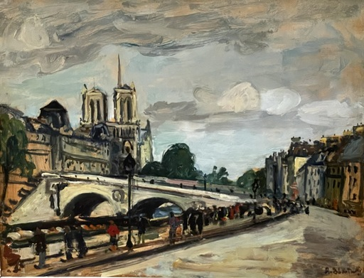 Arbit BLATAS - Gemälde - Paris, view of the Notre-Dame  cathedral