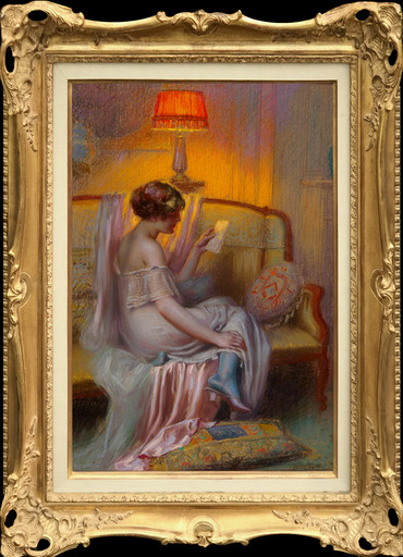 Delphin ENJOLRAS - Drawing-Watercolor - The Love Letter