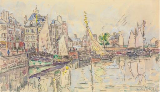 Paul SIGNAC - Dibujo Acuarela - Cherbourg