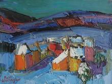 Pierre AMBROGIANI - Peinture - Hiver en Haute Provence