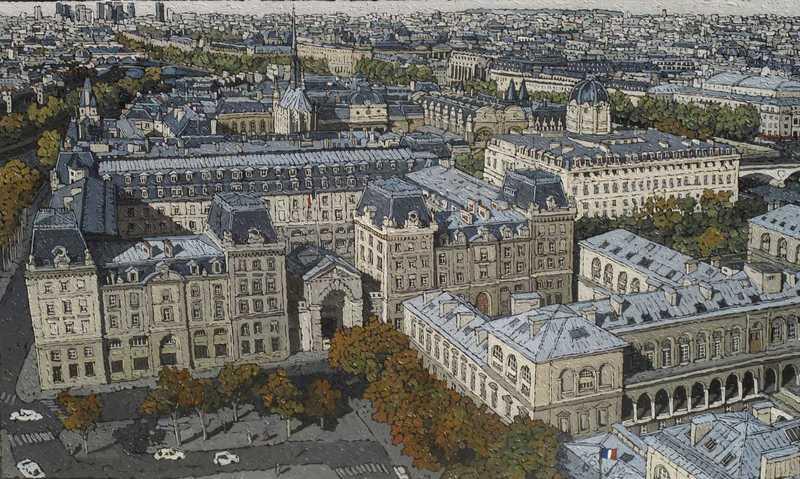Olivier LAVOREL - Pintura - 1902 - La Sainte Chapelle