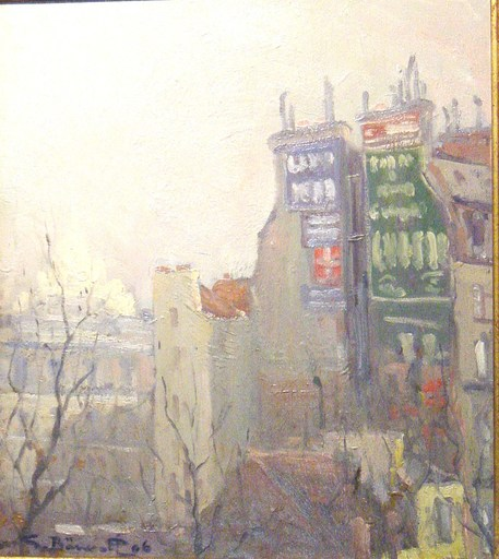 Georges BARWOLF - Gemälde - Montmartre 1906