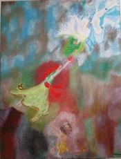 ATCHAMA - Painting - l Ange sauveur