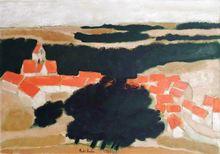 安德烈·布拉吉利 - 绘画 - Village en Tardenois