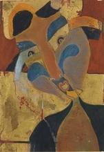 Francisco TOLEDO - Drawing-Watercolor - Mujer con trenzas