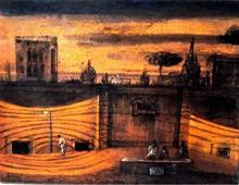 Eugene Gustavovitch BERMAN - Pintura - Roman Evening