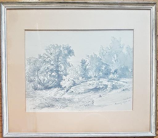 Albert Emil KIRCHNER - Drawing-Watercolor - Haldenburg