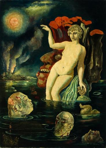 Rudolf SCHLICHTER - Pittura - Apokalyptische Szene