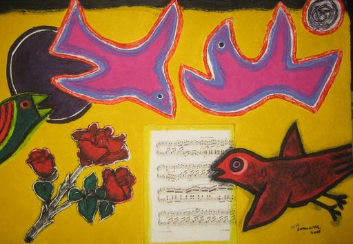 CORNEILLE - Estampe-Multiple - Hommage à Mozart