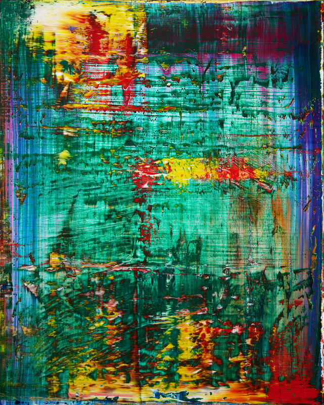 Harry James MOODY - Painting - Abstract green No.423