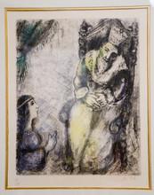 马克•夏加尔 - 版画 - Bathsheba at the feet of David