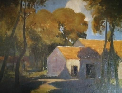 Viktor SCHARF - Painting - La Maison dans la forêt