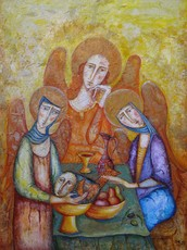 Katherine MULLER - Painting - The Three Angels