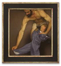 Michael LEONARD - Painting - Climbing Out