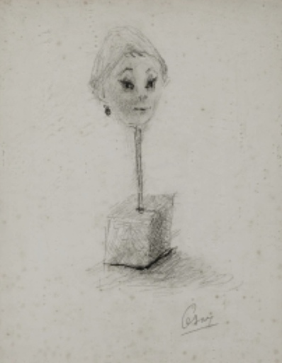 CÉSAR - Peinture - Portrait de Guliana