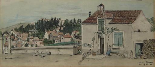 CLÉMENT-SERVEAU - Dessin-Aquarelle - DESSIN À LA GOUACHE 1900 SIGNÉ HANDSIGNED GOUACHE DRAWING
