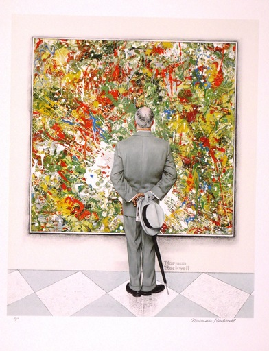 Norman Perceval ROCKWELL - Grabado - *The Connoisseur