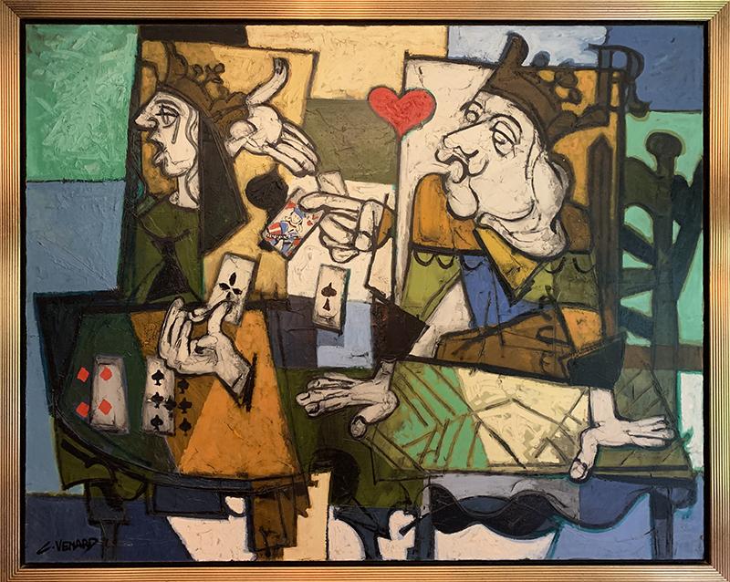 Claude VENARD - Painting - King & Queen