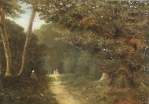 Paul Désiré TROUILLEBERT - Painting - Le sentier forestier