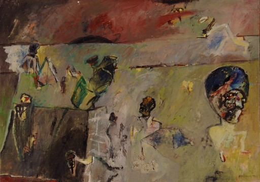 Alfonso BONIFACIO - Painting - El muro