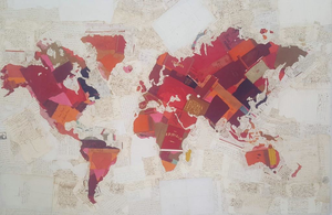Fernando ALDAY - Pittura - Virgin Map