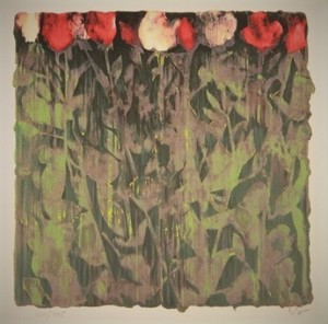 Donald SULTAN - Print-Multiple - Dried Roses