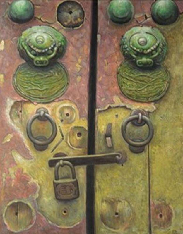 LI Kai - Peinture - Gate of the Palace