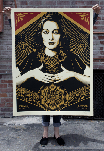 Shepard FAIREY - Estampe-Multiple - Peace & Justice (Large Format)