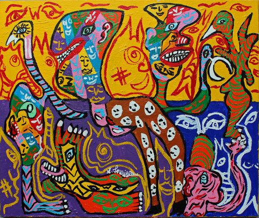 Lionel SOURISSEAU - Painting - Nous sommes tous Charli