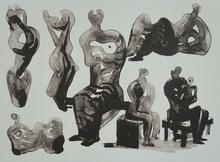 亨利•摩尔 - 版画 - Ideas for Sculptures